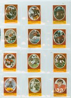 1972 Sunoco Football Stamps Team Set of 24 Stl Cardinals Near-Mint to Mint