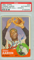 Tommy Aaron AUTOGRAPH d.84 1963 Topps #46 Braves PSA/DNA   [SKU:AaroT740_T63BBpa]