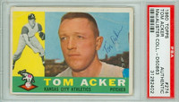 Tom Acker AUTOGRAPH 1960 Topps #274 Athletics PSA/DNA 