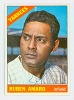 Ruben Amaro AUTOGRAPH 1966 Topps #186 Yankees CARD IS CLEAN VG/EX