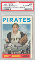 Smoky Burgess AUTOGRAPH d.91 1964 Topps #37 Pirates PSA/DNA 