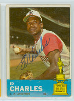 Ed Charles AUTOGRAPH 1963 Topps #67 Athletics 