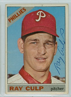 Ray Culp AUTOGRAPH 1966 Topps #4 Phillies CARD IS FAIR/POOR
