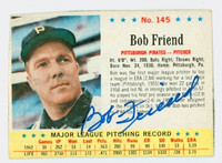 Bob Friend AUTOGRAPH 1963 Post Pirates 