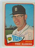 Fred Gladding AUTOGRAPH d.15 1965 Topps #37 Tigers 
