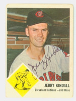 Jerry Kindall AUTOGRAPH 1963 Fleer #13 Indians 