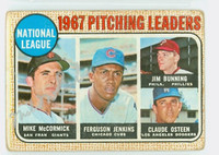 Mike McCormick AUTOGRAPH 1968 Topps #9 Giants NL Pitching Leaders 