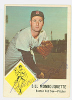 Bill Monbouquette AUTOGRAPH d.15 1963 Fleer Red Sox 