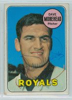Dave Morehead AUTOGRAPH 1969 Topps #29 Royals 