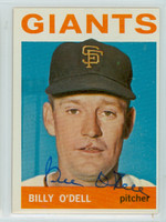 Billy O' Dell AUTOGRAPH 1964 Topps #18 Giants 