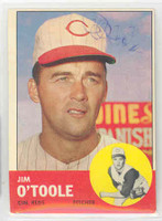 Jim O' Toole AUTOGRAPH d.15 1963 Topps #70 Reds CARD IS SHARP EX
