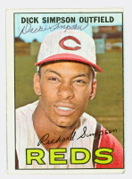 Dick Simpson AUTOGRAPH 1967 Topps #6 Reds 