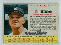 Bill Skowron AUTOGRAPH d.12 1963 Post #12 Yankees 