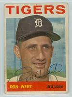 Don Wert AUTOGRAPH 1964 Topps #19 Tigers CARD IS F/P