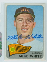 Mike White AUTOGRAPH 1965 Topps #31 Astros 