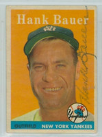 Hank Bauer AUTOGRAPH d.07 1958 Topps #9 Yankees  CARD IS SHARP EX+