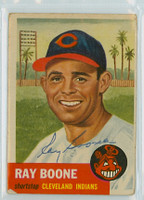Ray Boone AUTOGRAPH d.04 1953 Topps #25 Indians 