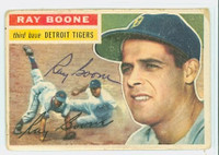 Ray Boone AUTOGRAPH d.04 1956 Topps #6 Tigers  