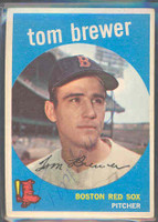 Tom Brewer AUTOGRAPH 1959 Topps #55 Red Sox 