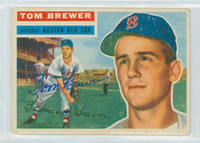 Tom Brewer AUTOGRAPH 1956 Topps #34 Red Sox 