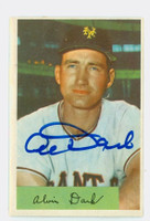 Al Dark AUTOGRAPH d.14 1954 Bowman #41 Giants 986 FA 