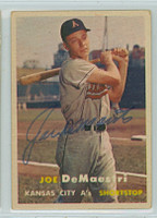 Joe DeMaestri AUTOGRAPH d.16 1957 Topps #44 Athletics 