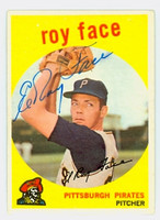 Roy Face AUTOGRAPH 1959 Topps #339 Pirates   [SKU:FaceR1218_T59BB]