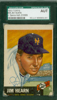 Jim Hearn AUTOGRAPH d.98 1953 Topps #38 Giants SGC/JSA 