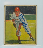 Ken Heintzelman AUTOGRAPH d.00 1950 Bowman #85 Phillies  CARD IS POOR