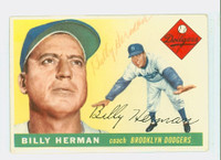 Billy Herman AUTOGRAPH d.92 1955 Topps #19 Dodgers 