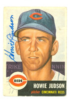 Howie Judson AUTOGRAPH 1953 Topps #12 Reds CARD IS F-P