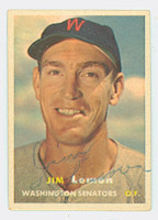 Jim Lemon AUTOGRAPH d.06 1957 Topps #57 Senators 
