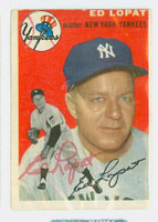 Ed Lopat AUTOGRAPH d.92 1954 Topps #5 Yankees 