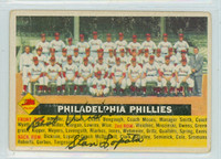 Stan Lopata DUAL SIGNED d.13 1956 Topps #72 Phillies Team CENTER 