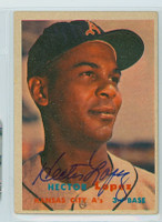Hector Lopez AUTOGRAPH 1957 Topps #6 Athletics 
