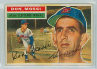 Don Mossi AUTOGRAPH 1956 Topps #39 Indians  TAPE ON CARD