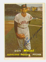 Don Mossi AUTOGRAPH 1957 Topps #8 Indians   [SKU:MossD703_T57BB]