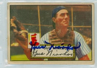 Gus Niarhos AUTOGRAPH d.04 1952 Topps #121 Red Sox  CARD IS FAIR