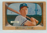 Andy Pafko AUTOGRAPH d.13 1955 Bowman #12 Braves 