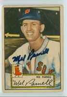 Mel Parnell AUTOGRAPH d.12 1952 Topps #30 Red Sox  CARD IS POOR