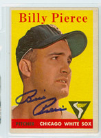 Billy Pierce AUTOGRAPH d.15 1958 Topps #50 White Sox  