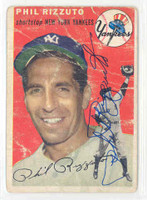 Phil Rizzuto AUTOGRAPH d.07 1954 Topps #17 Yankees 