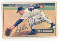 Eddie Robinson AUTOGRAPH 1951 Bowman #88 White Sox CARD IS VERY POOR