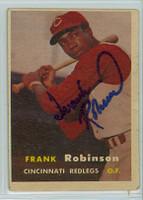 Frank Robinson AUTOGRAPH 1957 Topps #35 Reds ROOKIE 