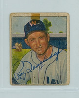 Ray Scarborough AUTOGRAPH d.82 1950 Bowman #108 Senators  TAPE; SL BACK DAMAGE/WRITING ON REV