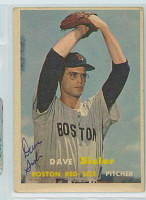 Dave Sisler AUTOGRAPH d.11 1957 Topps #56 Red Sox  CARD IS VG, NO CREASES