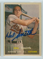 Hal W. Smith AUTOGRAPH 1957 Topps #41 Athletics 