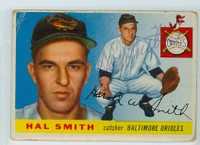 Hal W. Smith AUTOGRAPH 1955 Topps #8 Orioles  CARD IS F/P
