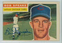 Bob Speake AUTOGRAPH 1956 Topps #66 Cubs  CARD IS F/P