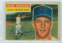 Bob Speake AUTOGRAPH 1956 Topps #66 Cubs  CARD IS POOR